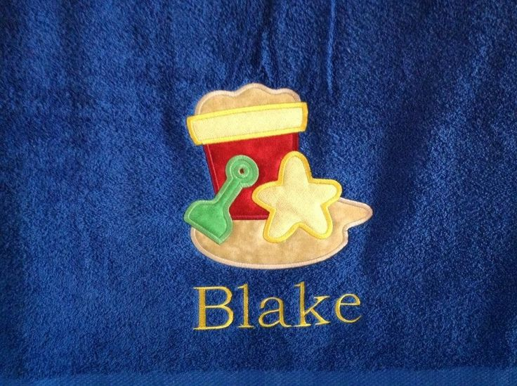 Personalized beach / bath towel with name. Towel sizes : 35x63 - $30.00, 30x54 - $25.00, 37x50 - $22.00, Made by Tempting Threads Embroidery, check them out on Facebook... https://www.facebook.com/temptingthreadsembroidery