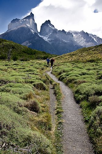 Trekking in Torres del Paine National Park, Patagonia, Chile