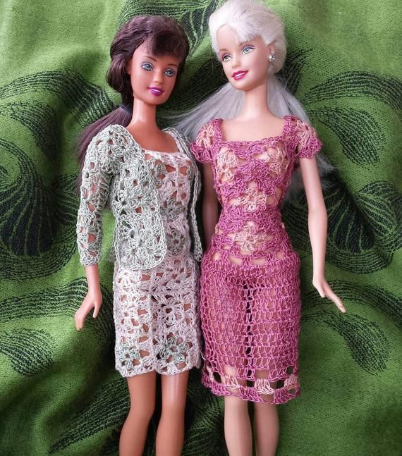 Barbie Doll Crochet Pattern Granny Square Dresses And Sweater Pdf Download With Crochet Instructions Only Babaruha Kotott Mintak