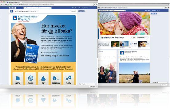 Länsförsäkringar Bergslagen  Kampanj även via Facebook