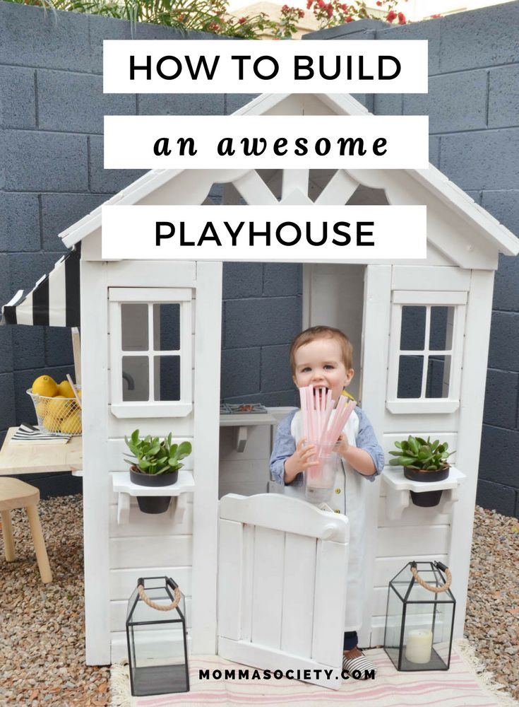 Best 25 wooden playhouse ideas on pinterest girls for Boys outdoor playhouse