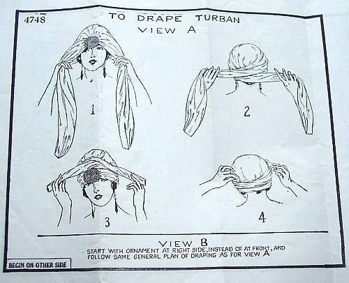 1920s Art Deco Turban
