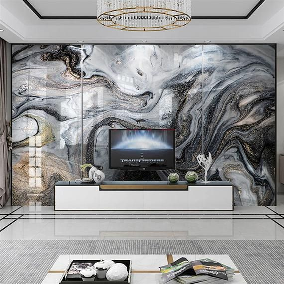 Custom 3d Photo Wall Painting Abstract Marble Texture Etsy In 2021 Wallpaper Modern Wall Murals Living Room Wall Painting