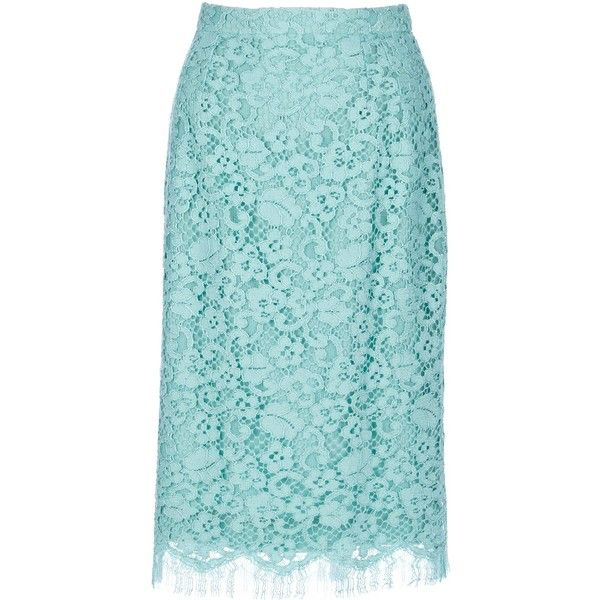 DOLCE & GABBANA floral lace pencil skirt (620 BGN) ❤ liked on Polyvore featuring skirts, floral-print pencil skirts, lace pencil skirt, floral printed skirt, floral lace skirt and flower print pencil skirt