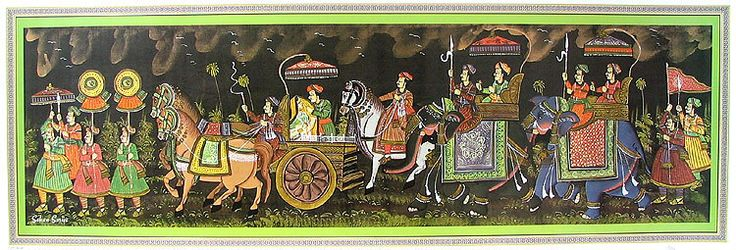 Rajput Royal Procession (Reprint on Paper - Unframed))