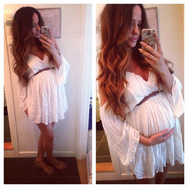 <3 Great style! She looks like a pregnant angel!