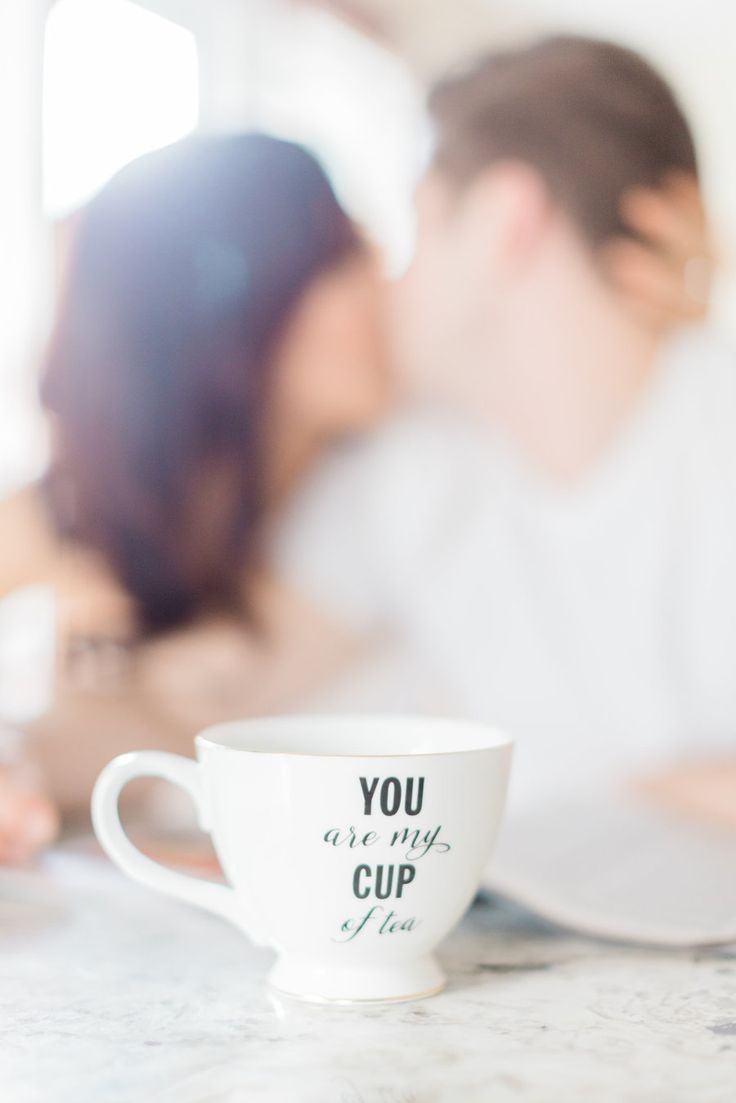 The cutest couple shot: Photography : Cari Zhu Photography Read More on SMP: http://www.stylemepretty.com/canada-weddings/ontario/toronto/2016/04/15/an-at-home-engagement-session-full-of-love/