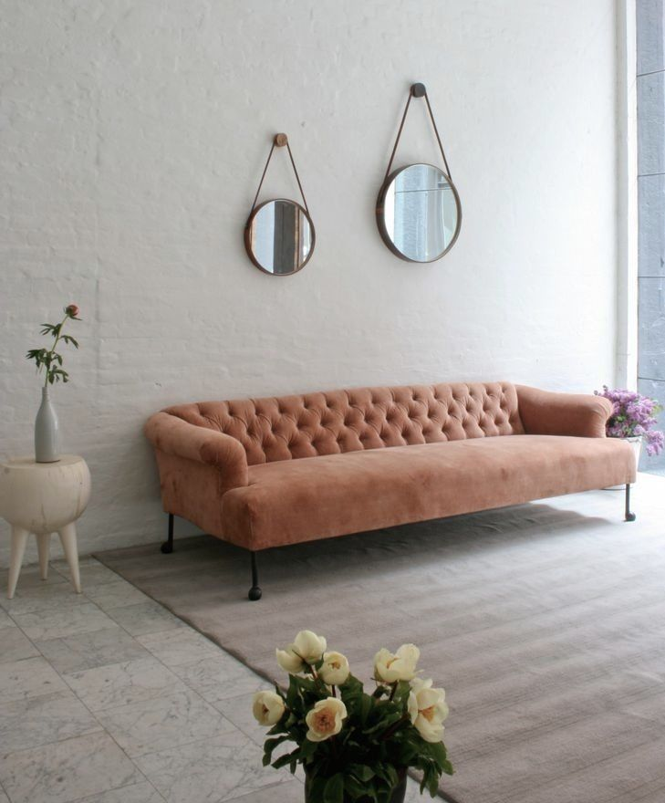 Plain and simple backdrop, just add a pastel pink feminine sofa