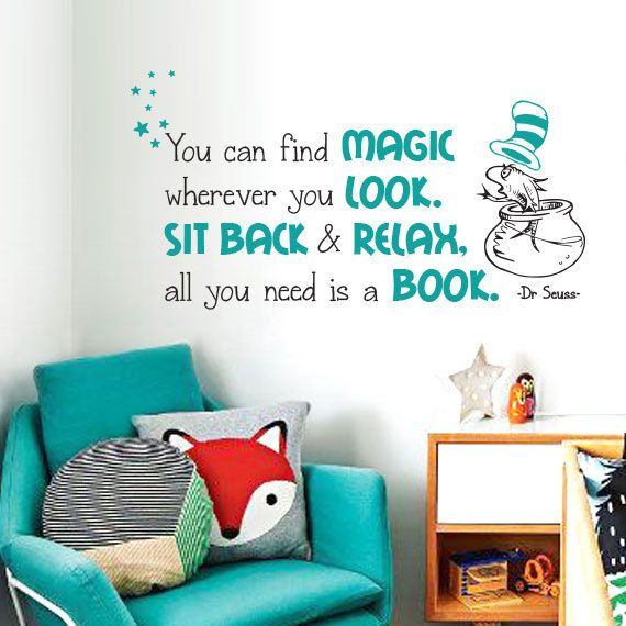 Dr. Seuss Quote Wall Decal  Wall Decal and Wall by NameBlum.  I love the quotes from Dr Seuss and this would look great on any child's bedroom wall, a playroom wall or a nursery wall