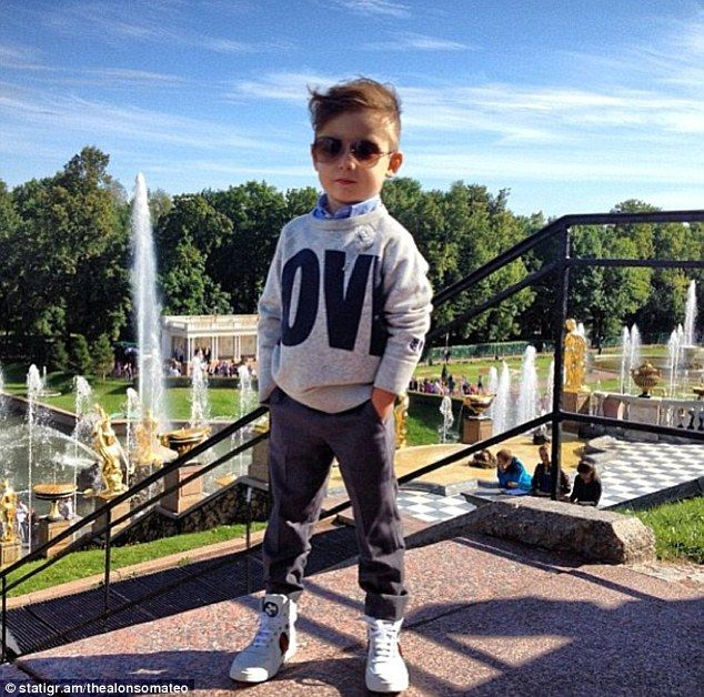 Alonso styles and produces the shoots himself, says his mother