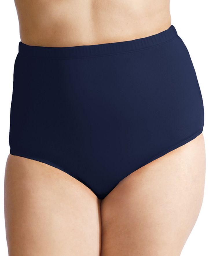 Take a look at this Navy Mesh-Panel High-Waist Bikini Bottoms - Plus today!