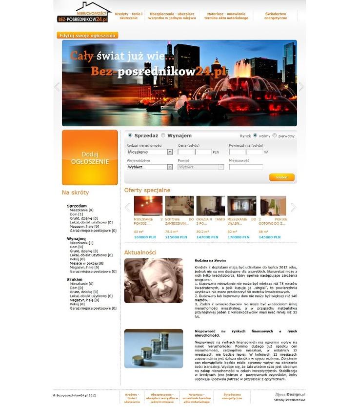 Bez-posrednikow24.pl to kolejna kreacja internetowa naszego autorstwa. Prosta stronka z funkcjonalną wyszukiwarką zaprojektowana specjalnie dla nietypowego przedsiębiorstwa zarządzania nieruchomościami. Polecamy !:)
