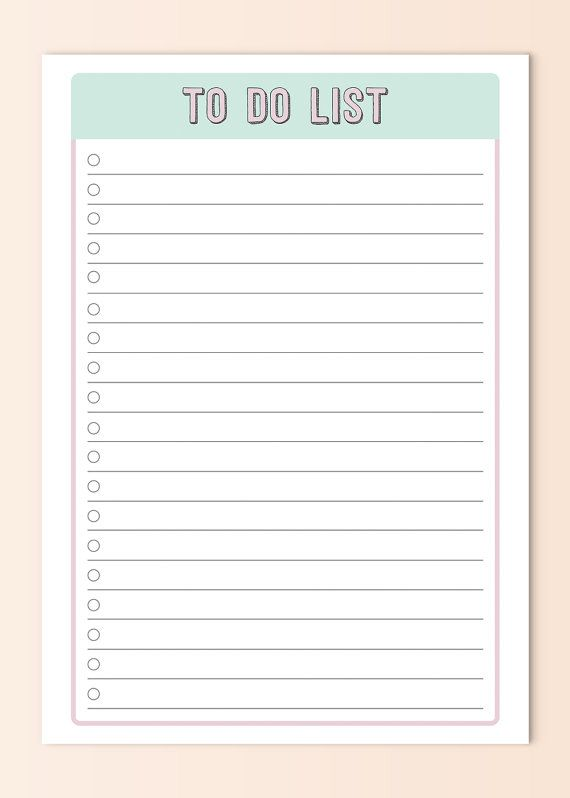 To Do List A4 A5 Sized Printable By