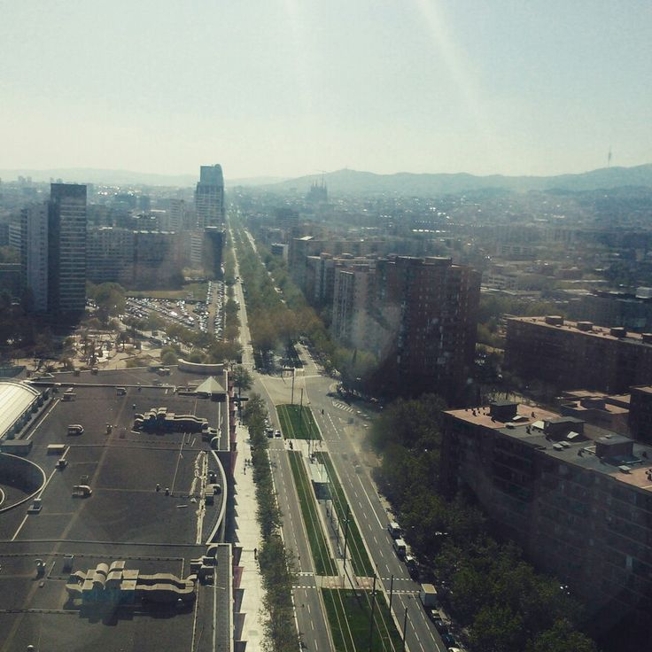 Views from 23th floor of Barcelona Princess Hotel