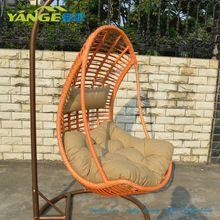 mobiliario de mimbre mecedora silla de oscilación del jardín al aire libre