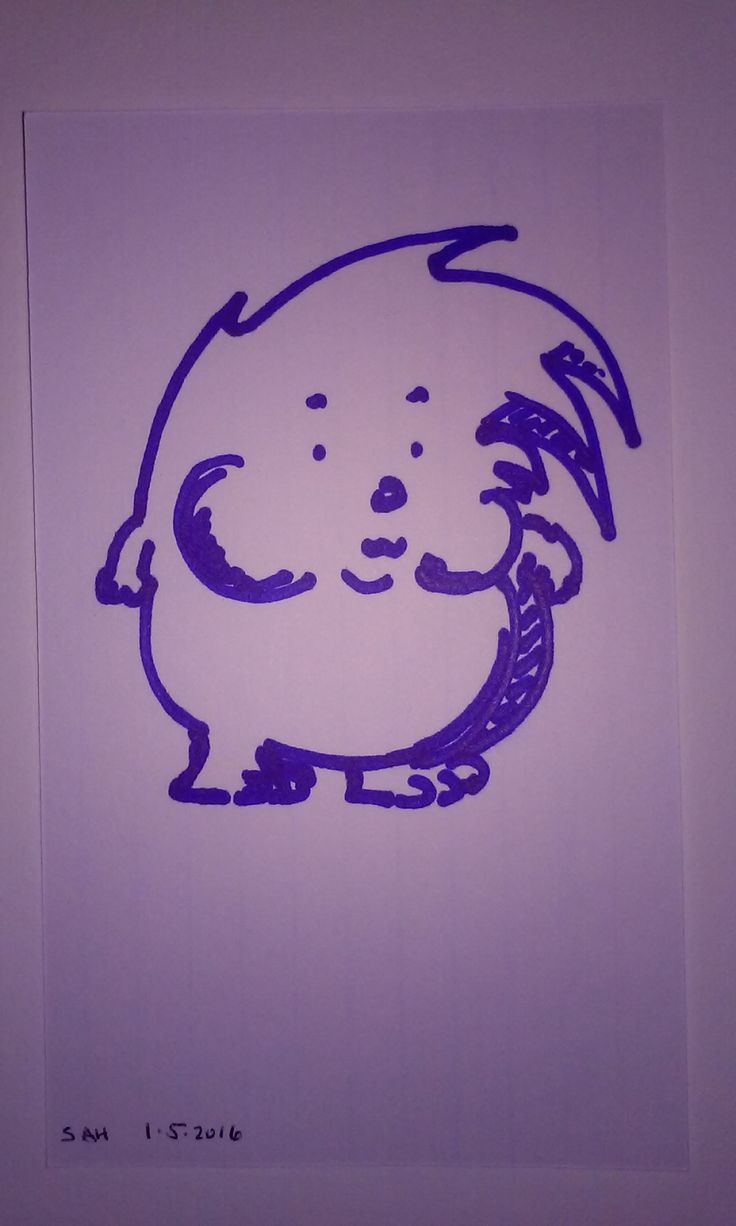 Cute round blue hedgehog cartoon character with chubby cheeks