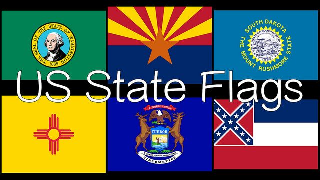 Free US State Flag Flash Card Video