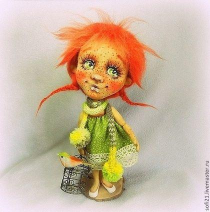 Агаша... или клетки не надо закрывать... - кукла,авторская кукла,текстильная кукла