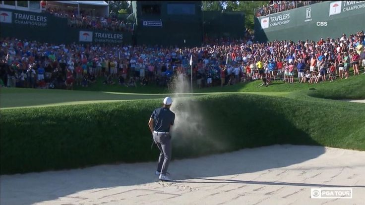 Now Playing: Jordan Spieth Dominates in Masters Win       Now Playing: Golfer Jordan Spieth Wins 2015 US Open       Now Playing: Jordan Spieth wins tournament with dramatic shot        Now Playing: 'The Bachelorette' preview: Lee and Kenny face off       Now Playing: Toddler with... - #Dramatic, #Jordan, #Shot, #Spieth, #TopStories, #Tournament, #Video, #Wins