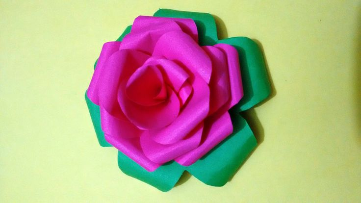 How to make paper flower | Diy Paper Rose Flower video