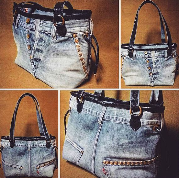 Jeans bag vintage exclusive handmade!  Made in Italy  We are artisans and all of our materials are available in various styles and colors. Send us an