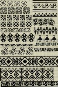 dibujos indigenas para bordar   Motivos de bordados vascos
