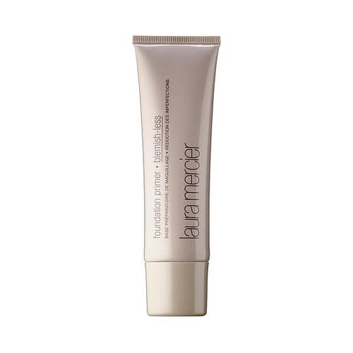 Reduce the appearance of blemishes through active ingredients, and a beautifully primed canvas. Laura Mercier Foundation Primer - Blemish-Less is a lightweight invisible layer that controls spots and breakthrough shine.