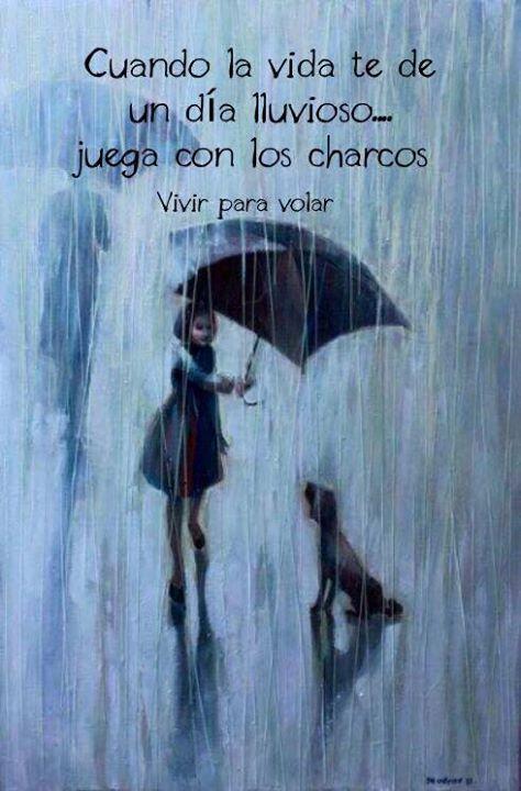 Cuando la vida te dé un día lluvioso, juega con los charcos*