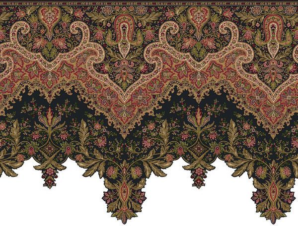 Ornate and detailed large victorian wallpaper border or for Wallpaper and borders