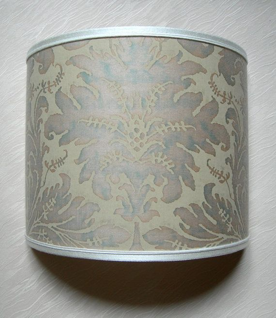Wall Light Half Lampshade Fortuny Fabric in by OggettiVeneziani, $159.00