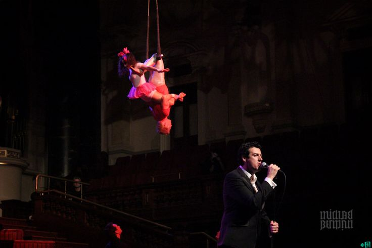 Just found this photo of Little Miss Circus and Mr Glen performing doubles trapeze in Sydney Town Hall.... with Sam Moran (yellow wiggle)