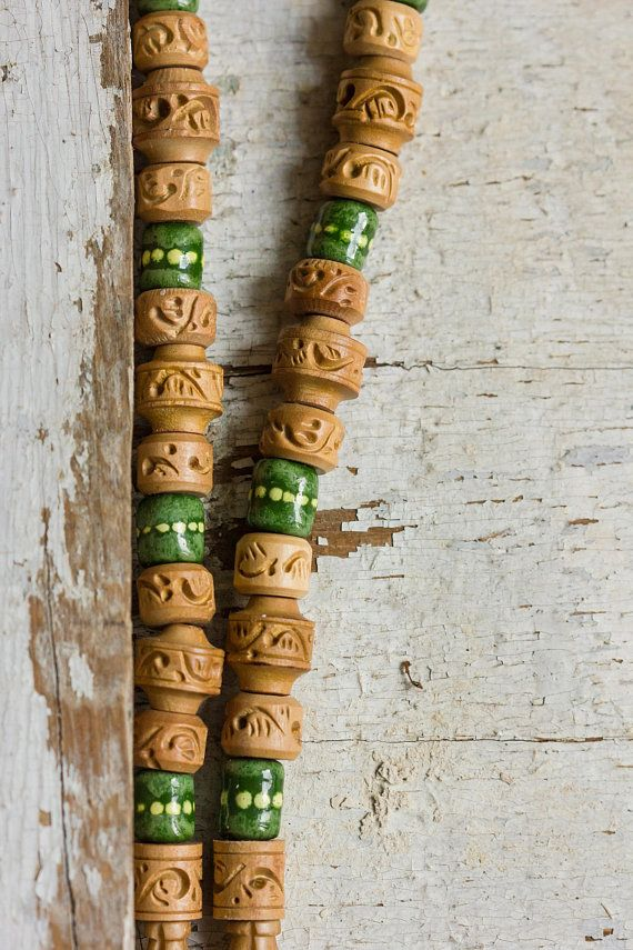 Indian Summer Mens Choker, Gift for Boyfriend Necklace, Mens Beaded Necklace, Wooden Choker, Jewelry for Men, Male Necklace, Short Necklace