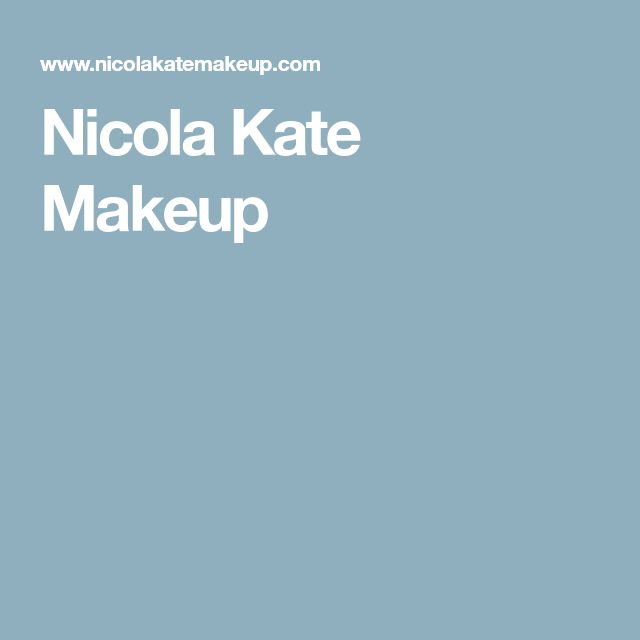 Nicola Kate Makeup
