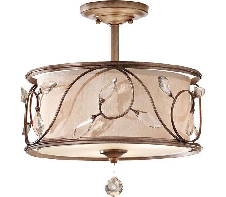 Murray feiss lighting sf300ars priscilla 3 light semi flush at del mar fans lighting ceiling fixturesceiling