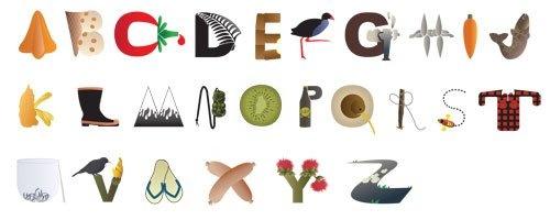 kiwiana alphabet