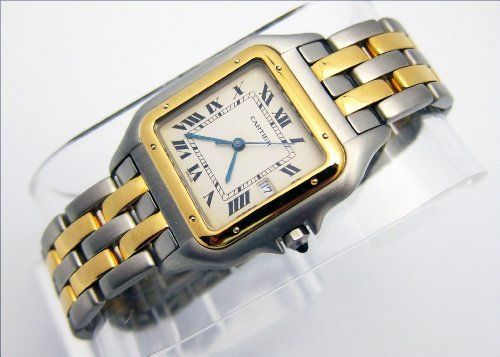 Cartier Men's 187957 Santos Stainless Steel and 18K Gold Watch by Cartier. $8500.99. Presented for Sale an Outstanding, Extremely Rare, Beautiful & Fine  BRAND NEW CARTIER SANTOS QUARTZ watch, in Robust & Solid Stainless Steel and 18K Yellow Gold, with an exquisite white dial, 30.00mm x 41.00mm  with a Special CARTIER highest quality Robust & Solid Stainless Steel and 18K Yellow Gold CARTIER bracelet & buckle, in Nearly brand NEW condition, all simply stunning