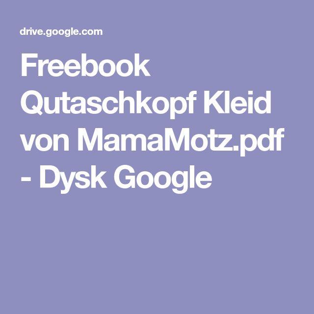 Freebook Qutaschkopf Kleid von MamaMotz.pdf - Dysk Google