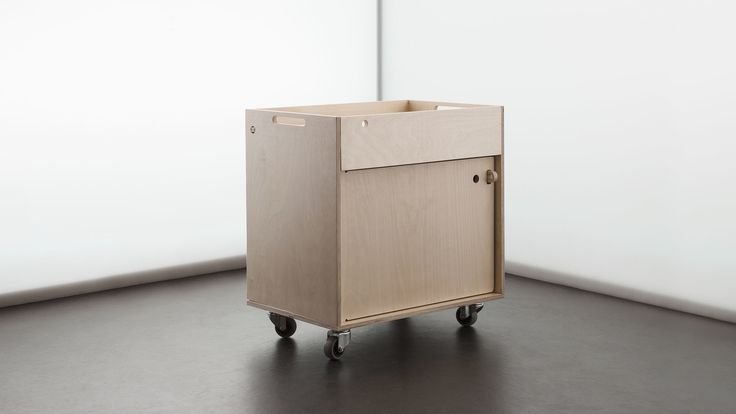 The Pedestal a mobile storage unit designed by Lynton Pepper for Opendesk