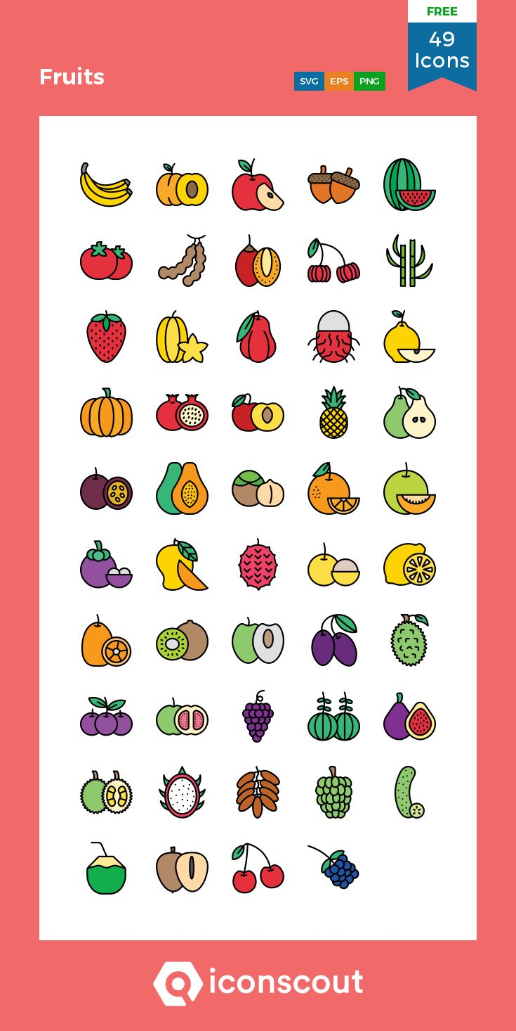 Download Fruits Icon pack Available in SVG, PNG, EPS, AI