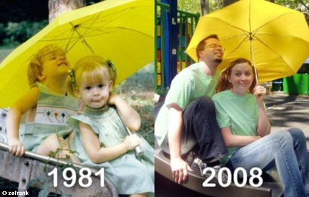 Still on the slide  Check Out These Hilariously Recreated Childhood Photos • Page 4 of 6 • BoredBug