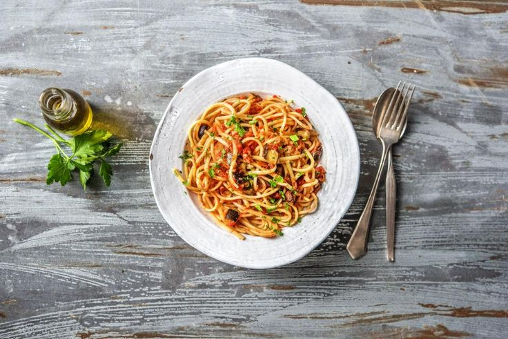 Eggplant and Sun-Dried Tomato Linguine Recipe | HelloFresh