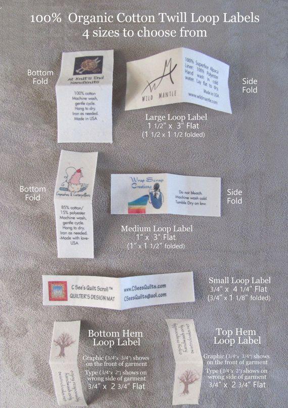 100 Organic Cotton Custom Clothing Labels Using Your Logo
