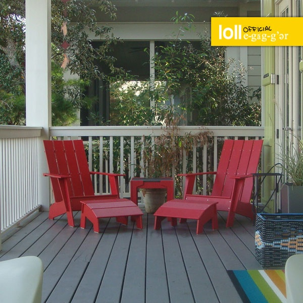Curve Tall Adirondack Loll Designs Modern Recycled Outdoor Furniture