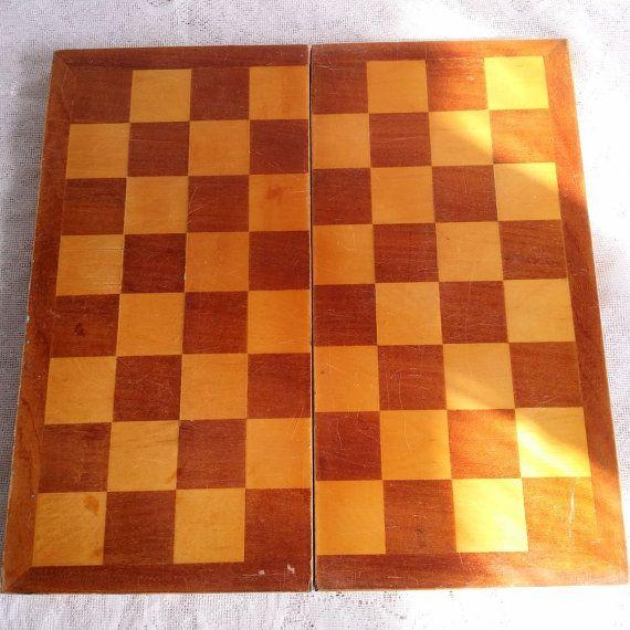 Vintage original Chess Board Lacquered от USSRVintageShopUSSR