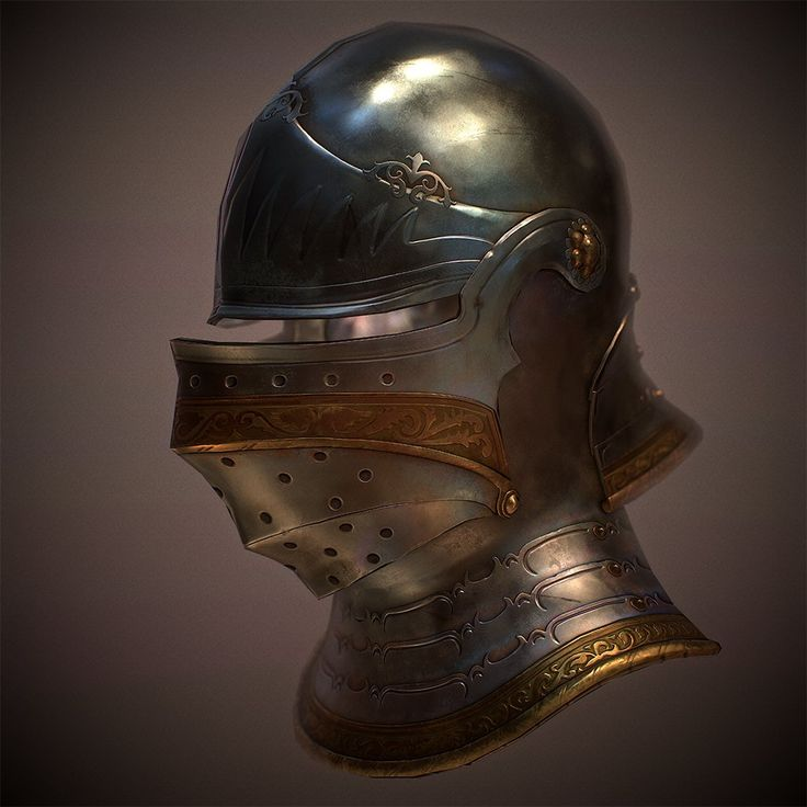 Medieval Helmet (Marmoset Viewer), Julio Nicoletti on ArtStation at https://www.artstation.com/artwork/qenGa