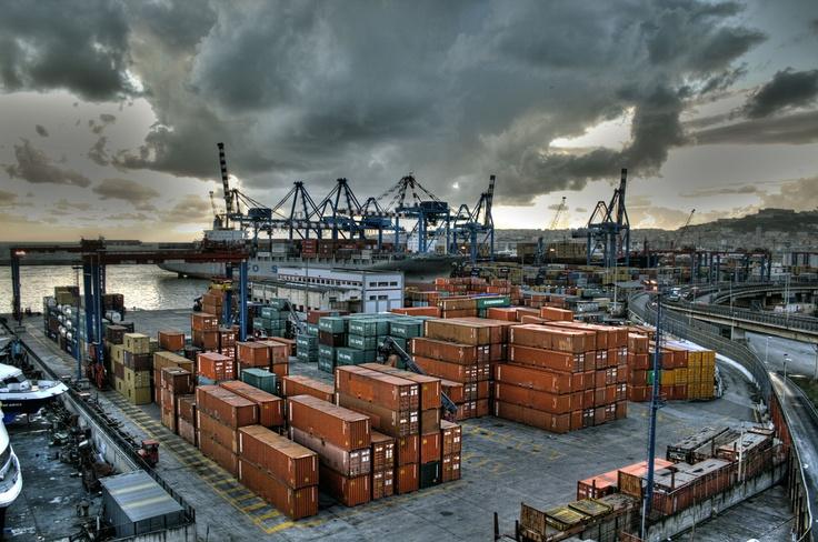 Flavio Gioia dock, port of Naples