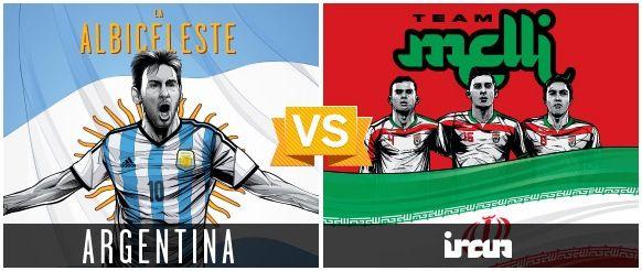 GRUPO F / #ARG vs #IRN (1 - 0) / 21.06.14 / Estadio Mineirao (Belo Horizonte)