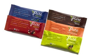 Chocolate Brownie, Wild Blueberry, Apple Cinnamon, Cherry Cashew, and Cranberry Orange Pure Bars are AKA!