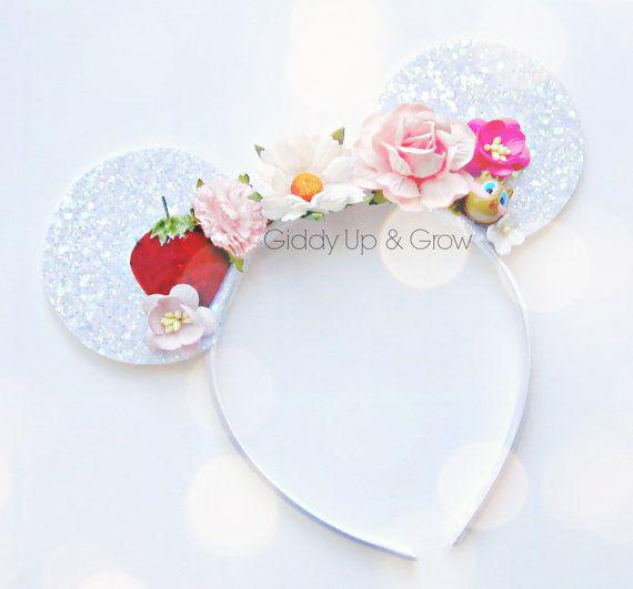 $28 Mickey Ears Headband - Bohemian Mickey Mouse Ears, Hard Headband, giddyupandgrow