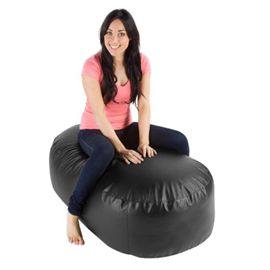 Black faux leather giant bean bag sofa read the review and get the best price here https://giantbeanbagking.wordpress.com/2015/09/09/giant-bean-bag-sofas/